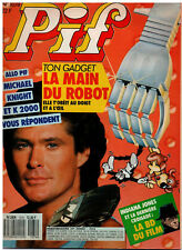 Rare french magazine PIF N° 1074 October 1989 COVER DAVID HASSELHOFF