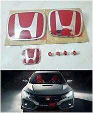 Type-R Red H Emblem Front Rear Steering Fit For 2006-2015 HONDA CIVIC SEDAN 4DR
