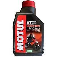 OLIO MOTUL Scooter Power 2T Lubrificante miscela moto 100% Sintetico Anti-Fumo