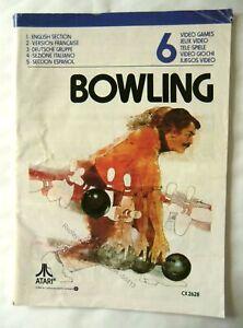58413 Instruction Booklet - Bowling - Atari 2600 / 7800 (1978) CX 2628