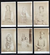 Sikkim c.1872-76 Six CDV Photographs of Indigenous People by Robert Phillips