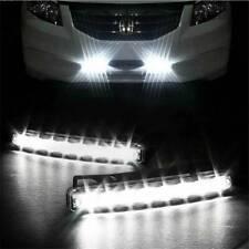 Car Light 8LED DRL Fog Driving Daylight Daytime Running LED White Head Lamp One