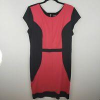 Nicole Colorblock Pink and Black Sheath Dress Size XL