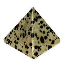 """Jet Dalmation Jasper Pyramid Approx. 1.25 - 1.5"""" Approx. Earth Elements Reiki"""