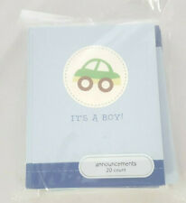 "20 Birth Announcements Cards Envelopes ""It's A Boy"" Car American Greetings"