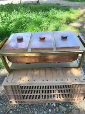 ancien Chauffe-plat-réchaud sterno art déco en laiton  cuivre et bakélite 1930