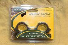 "Weaver Quad-Lock Rings 1"" High Matte 4 Aluminum Straps 49047 New Old Stock"