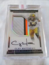 2016 National Treasures FB VETERAN TREASURES #33 Clay Matthews Packers AUTO #/10