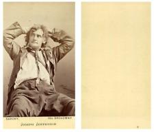 Sarony, New York, Joseph Jefferson, acteur CDV vintage albumen carte de visite.