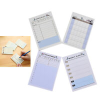 1X Weekly/Daily Planner Sticker Sticky Notes Memo Pad Schedule Check TB
