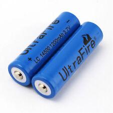 UltraFire 2Pcs 14500 1200mAh 3.7V Li-ion Rechargeable Battery For Flahlight
