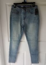 Womens Mossimo Denim Curvy Skinny Jeans - Size 6 Short - Blue Lake Washed -Lycra