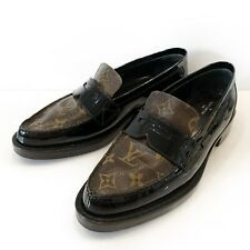 Women's Louis Vuitton Monogram Loafers Shoes Flat Patent Leather Size 39,5