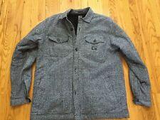 Billabong Heather Gray Black Fleece Sherpa Lined Coat Jacket XL Excellent