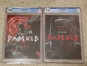 Batman Damned #1 CGC 9.8 Set Trade and Jim Lee Variant