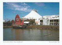 "*Washington Postcard-""Book of Mormon Pavilion""/on River/ *Spokane's Expo '74 {G6"