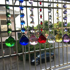 7Pc SUNCATCHER Rainbow CRYSTAL Ball CHANDELIER Feng Shui Pendant Window Decor
