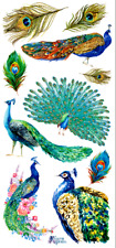 Violette Sticker Panel -Colorful and Vibrant Peacocks,