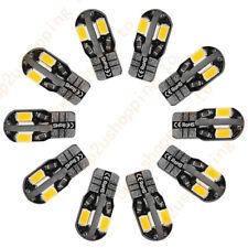 10 x Canbus Error Free T10 Warm White 8 5730 SMD LED Car Side Wedge Light Bulb