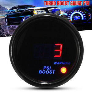 2'' 52mm Car Digital LED Display -14-30 PSI Turbo Boost Gauge Meter + Sensor