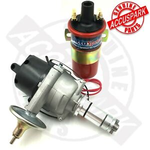 Land Rover Electronic Distributor 25D Lucas type with AccuSpark RED Sports Coil