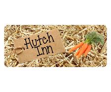 Hutch Inn Sign Rabbit Run Cage Guinea Pig Pet Bunny Animal Ferret Plaque