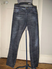 Authentic sexy Miss Sixty ankle-length skinny hipster jeans zips at ankle, s.28