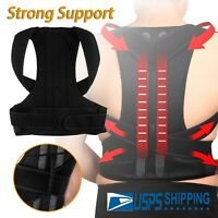 Men Women Adjustable Support Back Posture Corrector Shoulder Lumbar Brace Belt