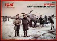 ICM 48804 BF 109F-4 with German Luftwaffe personnel, 1/48 scale model kit, WWII