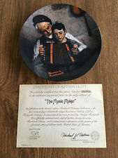 """Bradford Exchange Plate, Rockwell Heritage Collection (1981) """"The Music Maker"""""""