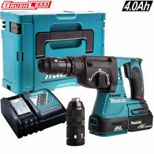 Makita DHR243Z 18V Brushless SDS+ Rotary Hammer + 1 x 4Ah Battery Charger & Case