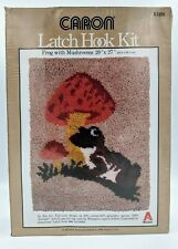 "Frog With Mushroom Latch Hook Kit 20""x27"" by Caron"