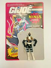 Vintage 1991 G. I. Joe Figure - Storm Shadow with Original Figure Card  - Nice