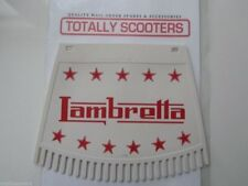 LAMBRETTA REMADE METALPLAST RED AND WHITE MUDFLAP WITH TASSELS TOP QUALITY