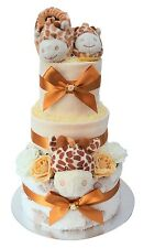 Gorgeous 3 Tier New Baby Unisex 'Giraffe' Nappy Cake/Baby Shower -FAST DELIVERY!