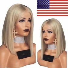 Lady Girl Bob Wig Women's Short Straight Full Hair Wigs Cosplay Party Blonde USA