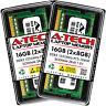16GB KIT (2 x 8GB) SODIMM DDR3 NON-ECC PC3-10600 1333MHz DDR-3 RAM Memory Sticks