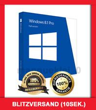 Microsoft Windows 8.1 Pro (Professional) ✓ LIZENZ-KEY ✓ VOLLVERSION ✓ NEU