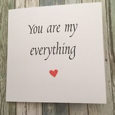 Cute Anniversary / Valentines Card / Love/ Partner / Romantic - Everything