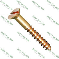 SOLID BRASS Slotted Countersunk Wood Screws ~ ALL GAUGES & SIZES 2,3,4,6,8,10,12