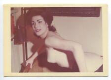 Wonderful Female Curvy Body Busty Hot Bum 1950 Original Nude Color Photo  B7251