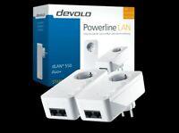 DEVOLO dLAN 550 duo+ POWERLINE Adapter Starter Kit, Powerlan, Steckdose