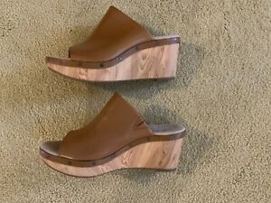 Clarks Womens Comfort Wedge Mules - Size 8.5