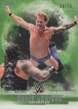 CHRIS JERICHO  #'d/25 GREEN PARALLEL 2017 Topps WWE Undisputed Card #10