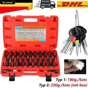 18/23x Entriegelungswerkzeug Set KFZ Stecker Auspinwerkzeug ISO Pin Lösewerkzeug