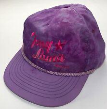 True Vintage 80s 90s Tony Lama Boots Purple Tie Dye Snapback Hat Cap