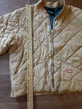 "DICKIES MEN""S DIAMOND QUILTED NYLON JACKET TAN LARGE"