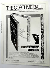 Film Sheet Music THE COSTUME BALL Doctors WIVES '71 Dyan CANNON Mama CASS ELLIOT
