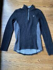 Pearl Izumi Women's Wool Blend Long Sleeve 1/4 Zip Cycling Sweater Sz M