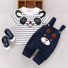 2 PZ NEONATI BABY BOY Ragazze T-shirt maglia+ Pantaloni^ ESTATE carino Set